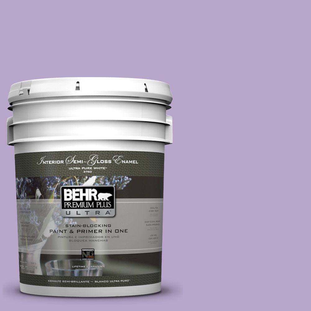 5-gal. #650B-4 Violet Fields Semi-Gloss Enamel Interior Paint