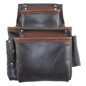 9-Pocket Oil Tanned Leather Framers Nail and Tools Pouch