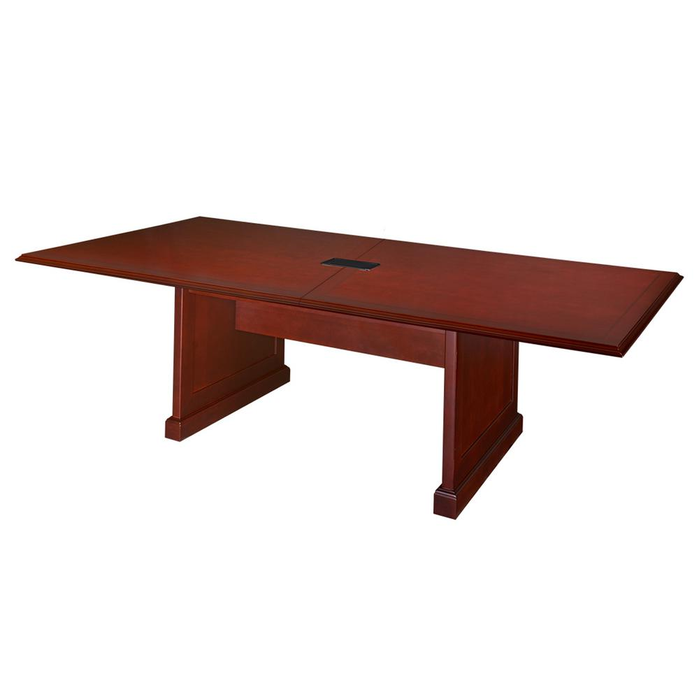 Prestige Mahogany In Rectangular Conference TableTVCTRCMH - Rectangular conference room table