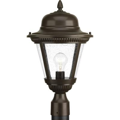 Westport Collection 1-Light Outdoor Antique Bronze Post Lamp