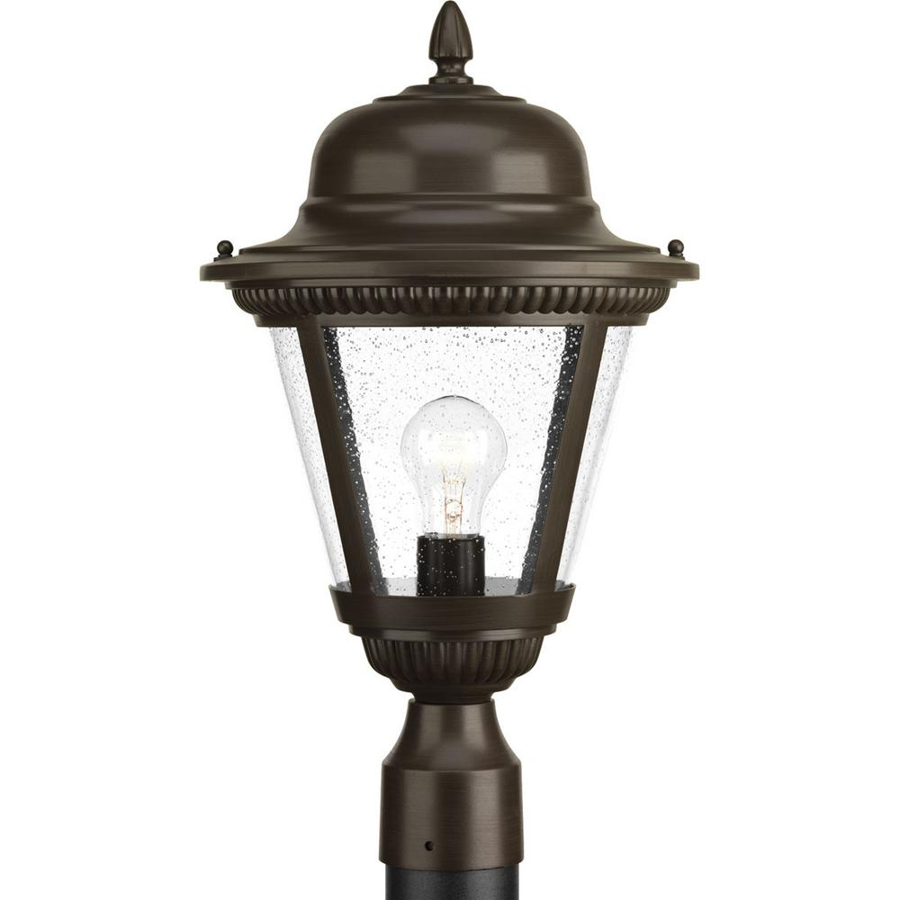 Westport Collection 1-Light Outdoor Antique Bronze Post Lantern