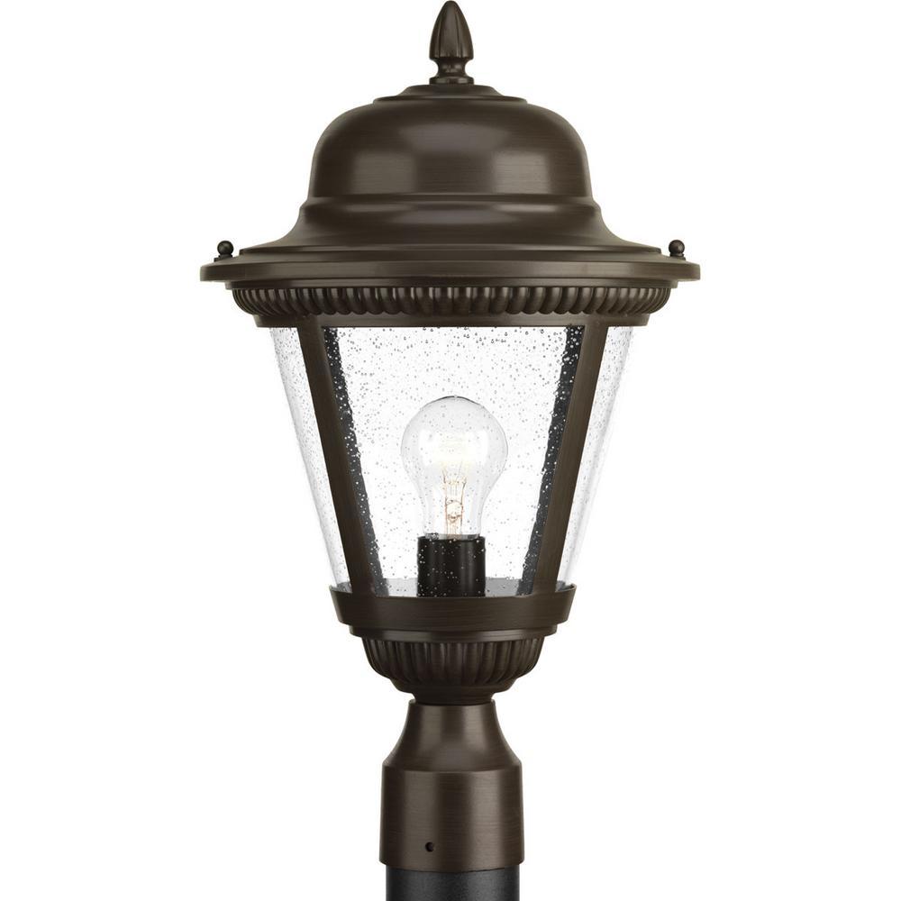 Westport Collection 1-Light Outdoor Antique Bronze Post Lamp