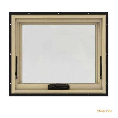 double pane windows home depot basement 24 in 20 w2500 series black painted clad wood awning windows doors the home depot