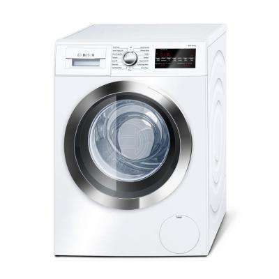 800 Series 24 in. 2.2 cu. ft. White with Chrome Accents High-Efficiency Front Load Compact Washer, ENERGY STAR