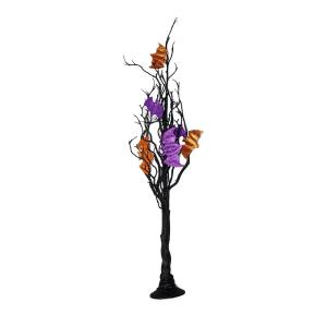 24 in. Halloween Twig Tree with 3 Bats