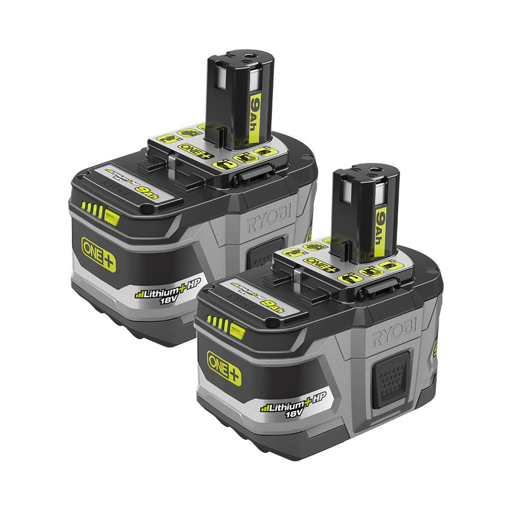 RYOBI RYOBI 18-Volt ONE+ Lithium-Ion LITHIUM+ HP 9.0 Ah High Capacity Battery (2-Pack)