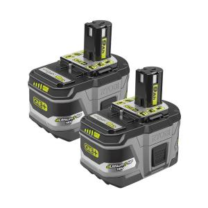 2-PK Ryobi 18V ONE+ Li-Ion HP 9.0 Ah High Cap. Battery P168