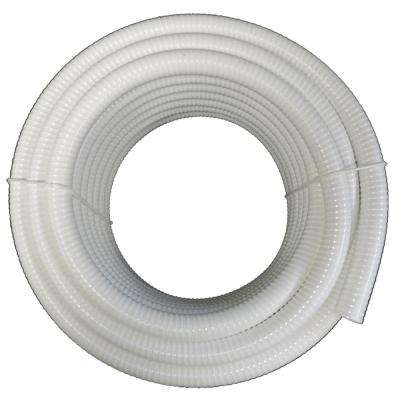 1 in. x 10 ft. White PVC Schedule 40 Flexible Pipe