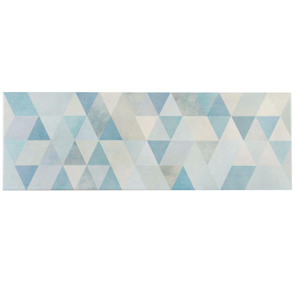 Hybrid Blue 7-3/4 in. x 23-1/2 in. Ceramic Wall Tile (11.62