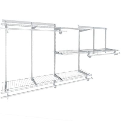 """Includes all Hardware 8/"""" Closetmaid Utility 6 Hook 2 colors Chrome and White"""