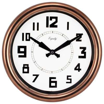 12 in. Round Copper Analog Wall Clock
