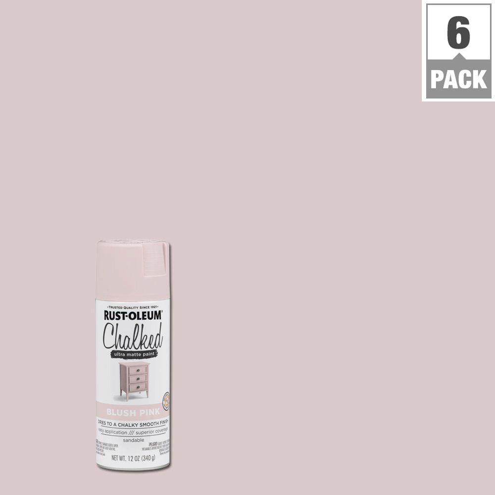 Rust-Oleum 12 oz. Blush Pink Chalked Spray Paint (6-Pack)