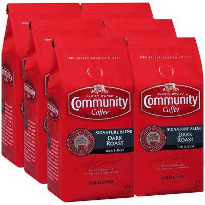 12 oz. Signature Blend Dark Roast Premium Ground Coffee (6-Pack)