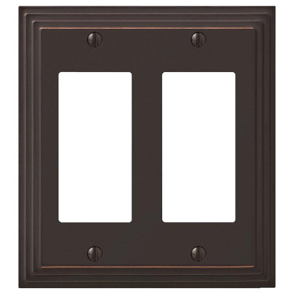 Hampton Bay Tiered 2 Rocker Wall Plate - Oil-Rubbed Bronze Cast