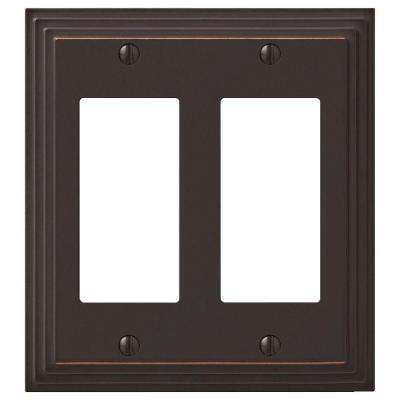 Tiered 2 Rocker Wall Plate - Oil-Rubbed Bronze Cast