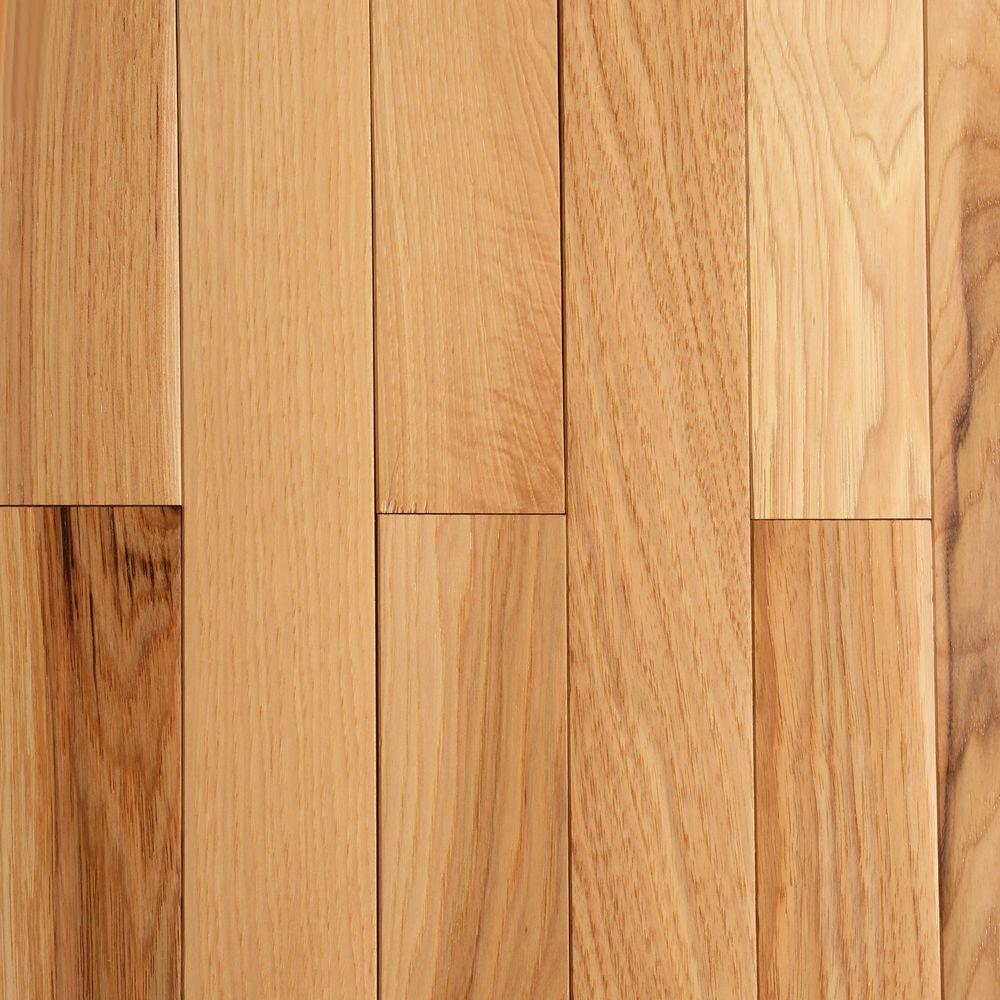 Bruce hickory rustic natural 3 4 in thick x 2 1 4 in for Bruce hardwood flooring