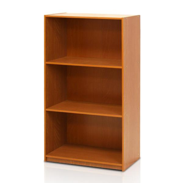 Furinno Basic 3-Self Light Cherry Open Bookcase 99736LC