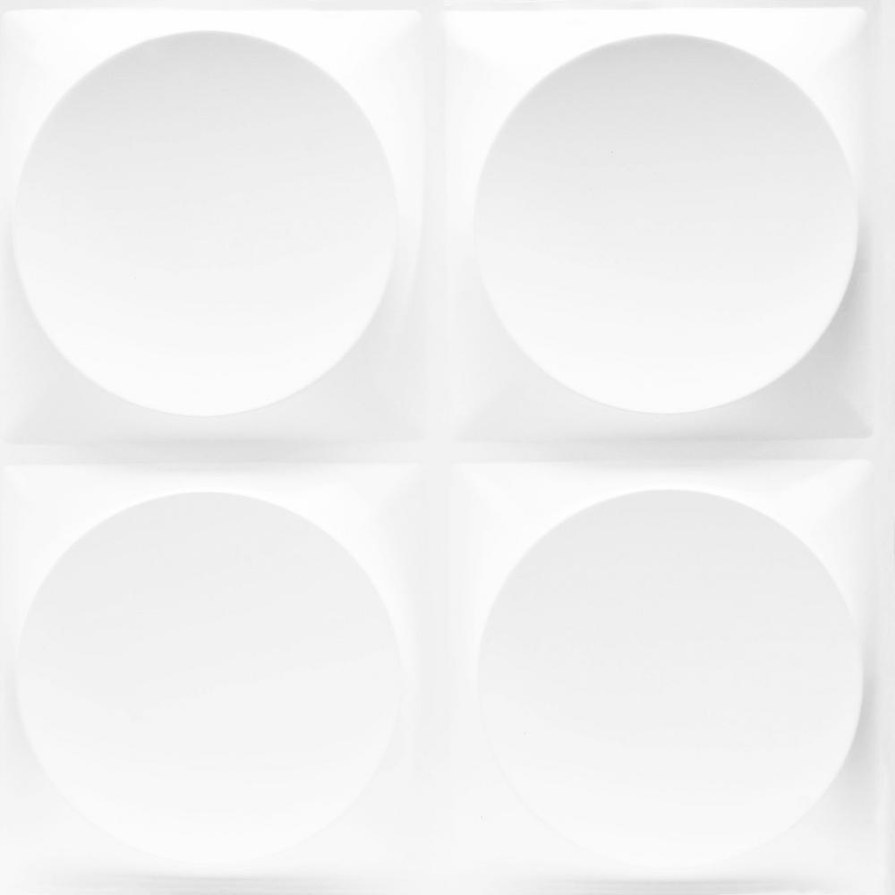 19.7 in. x 1 in. x 19.7 in. White PVC Fiber