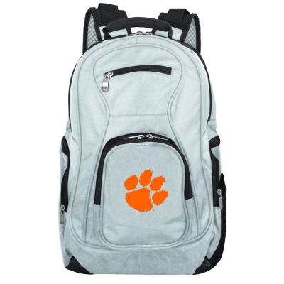 NCAA Clemson Tigers 19 in. Gray Laptop Backpack