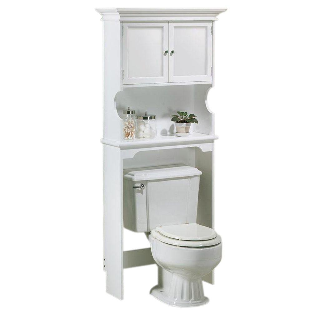 hampton harbor 30 in w space saver in white - Bathroom Cabinets That Fit Over The Toilet