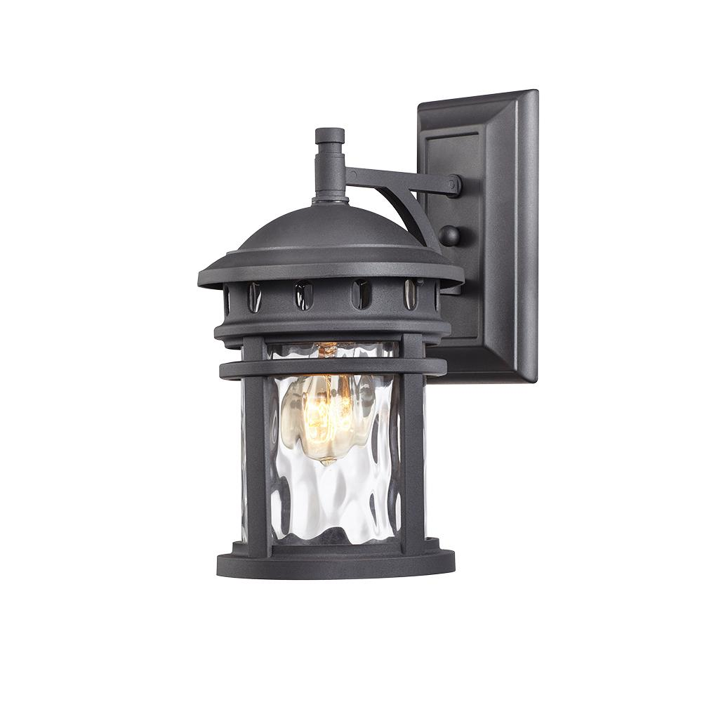 Home Decorators Collection 1 Light Black Outdoor Wall Lantern C2368 The Home Depot