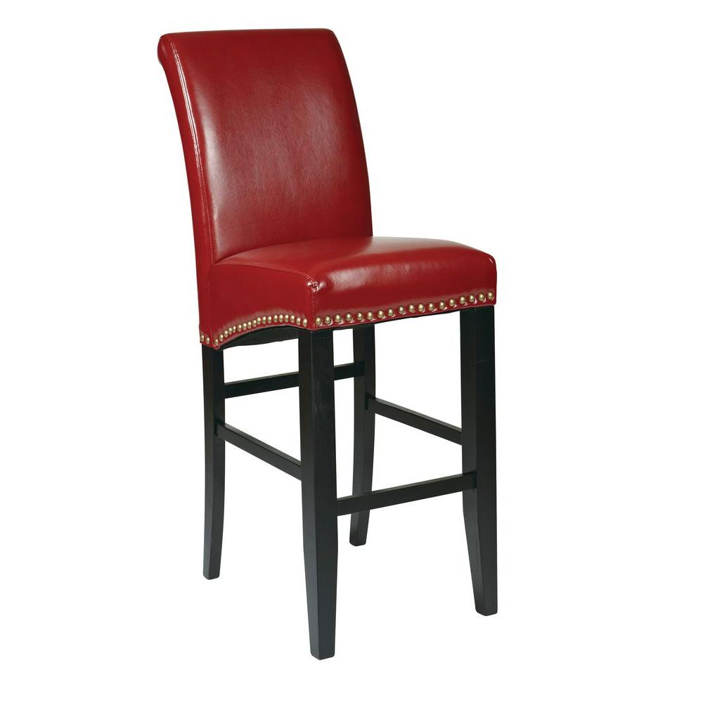 Red Cushioned Bar Stool
