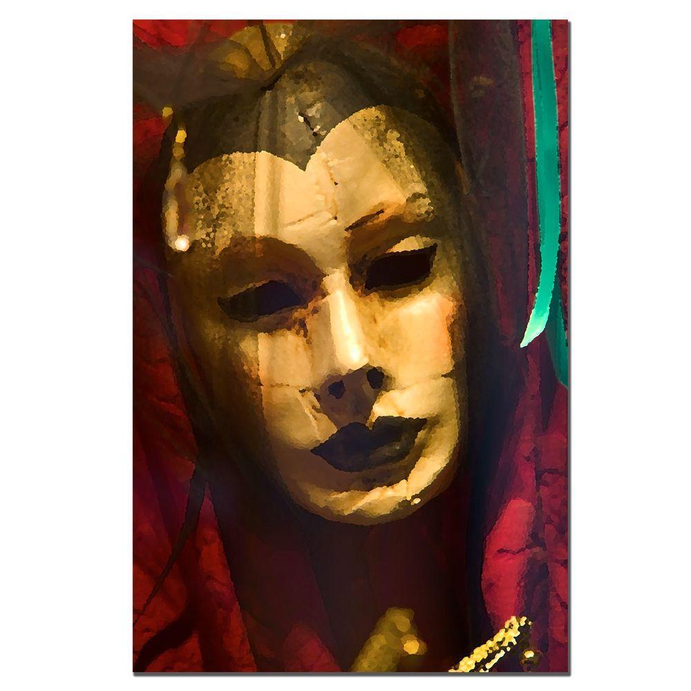 null 24 in. x 16 in. Masquerade Canvas Art