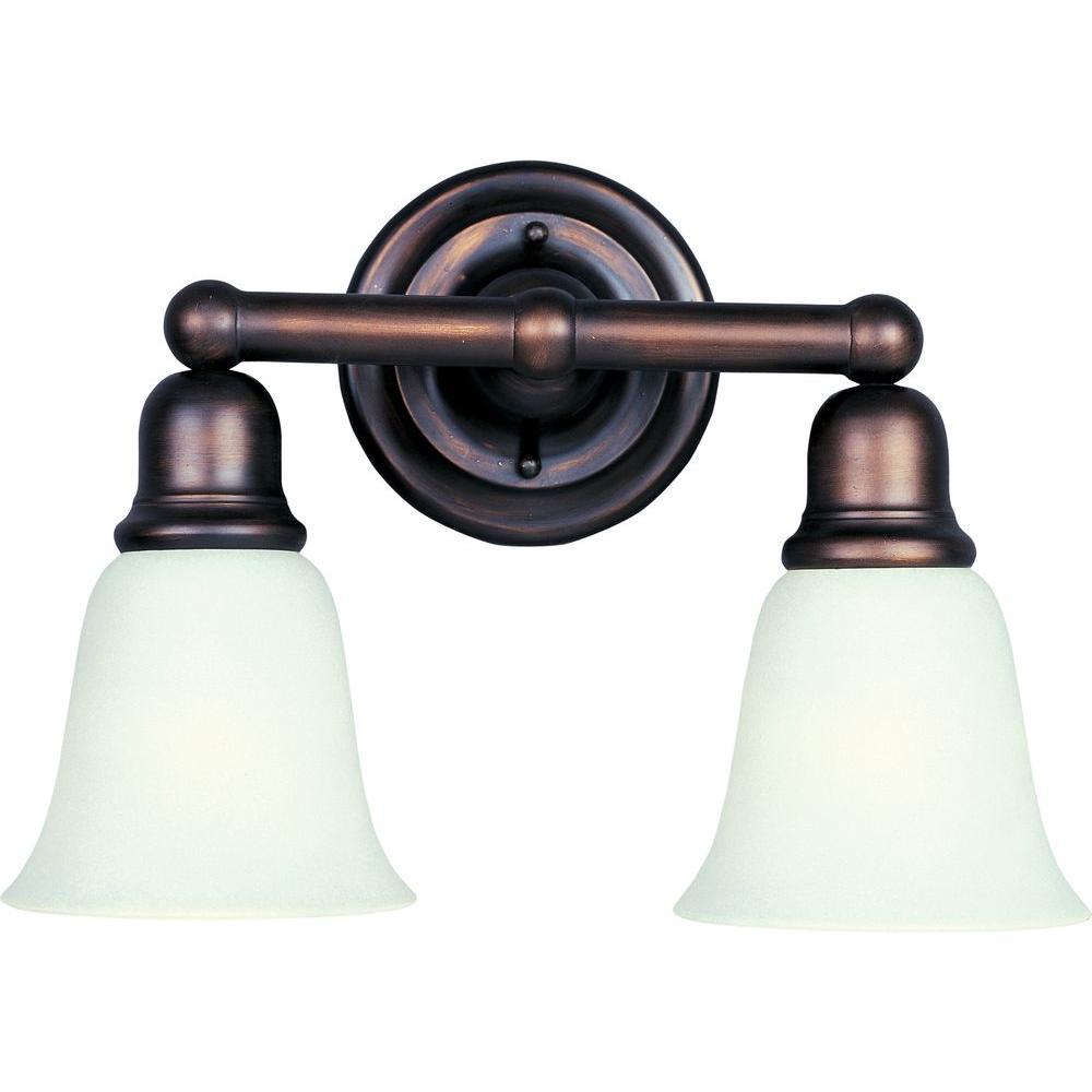 Maxim Lighting Bel Air 2-Light Oil-Rubbed Bronze Bath Vanity Light