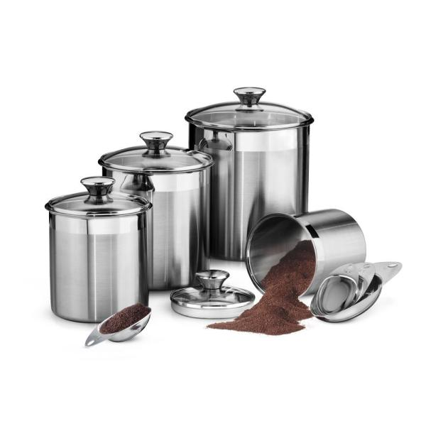 Tramontina Gourmet 8-Piece Covered Canister and Scoop Set
