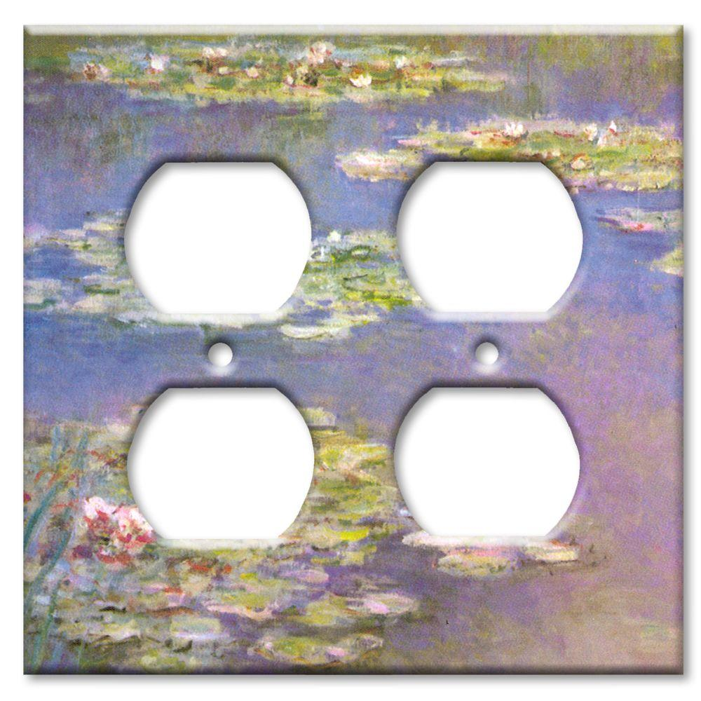 Art Plates Monet: Water Lilies - Double Outlet Cover