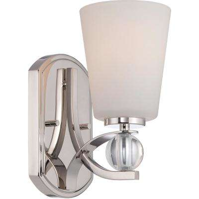 Thea 1-Light Polished Nickel Sconce