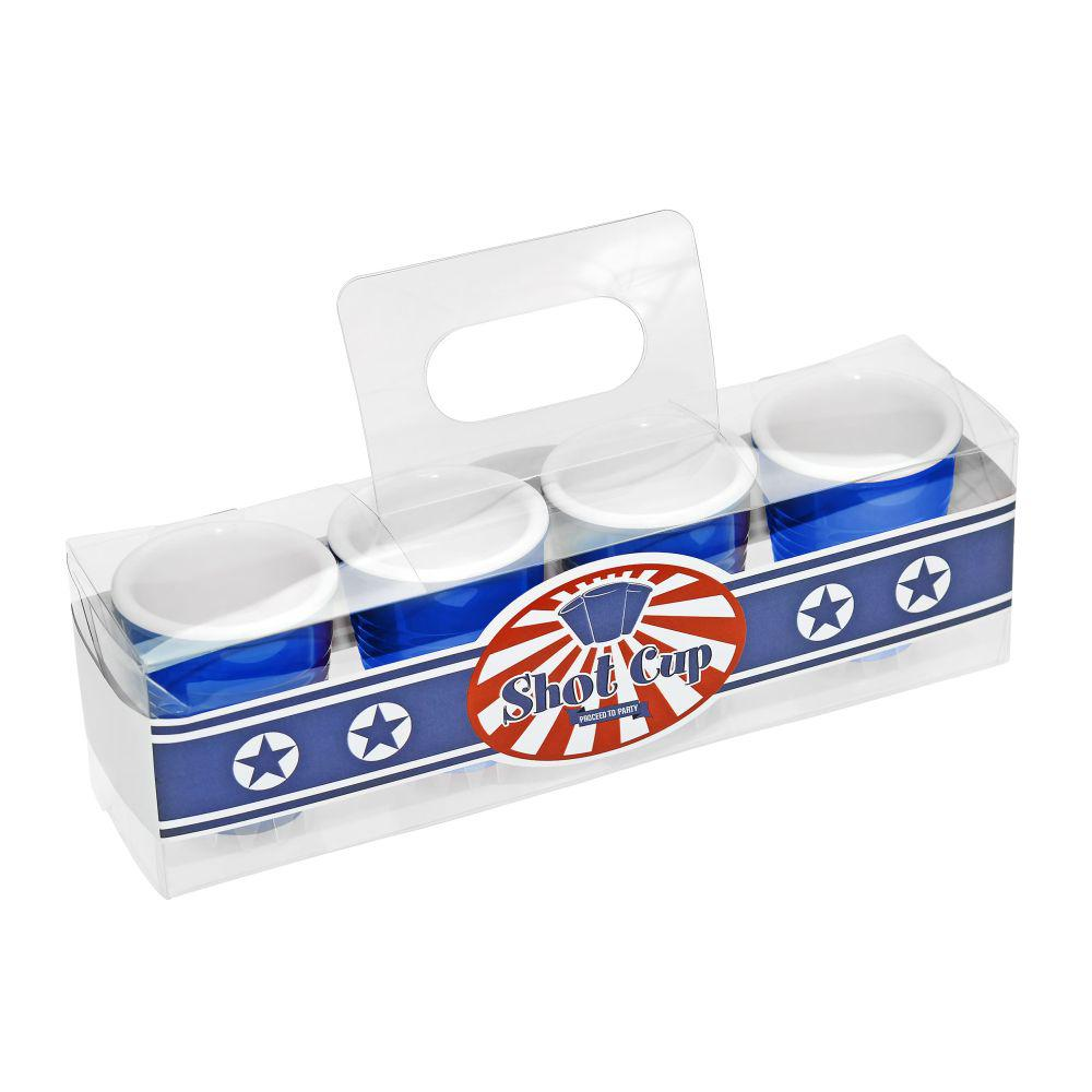 Blue Redneck Party Shot Glasses (4-Pack)