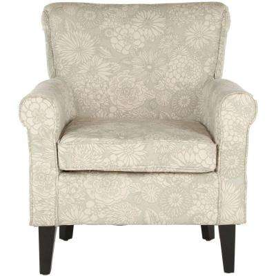 Hazina Abbey Mist Cotton Blend Club Arm Chair