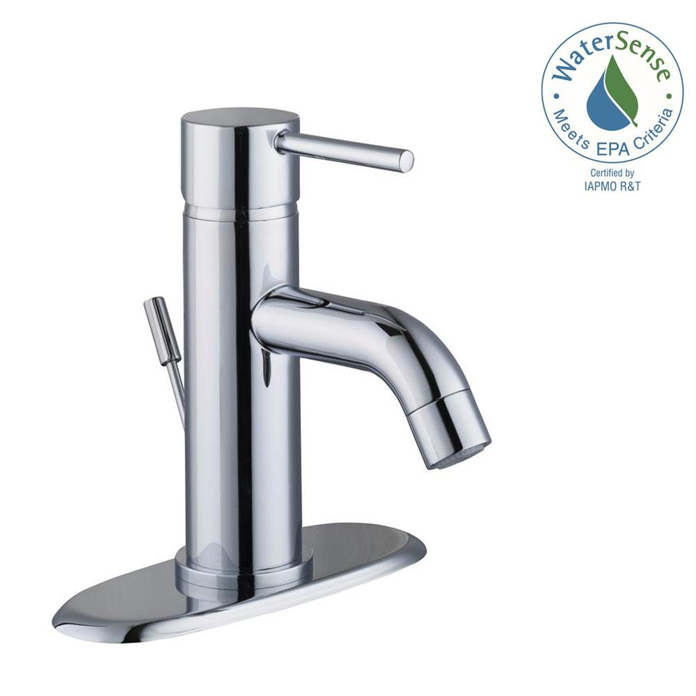 Glacier Bay Modern Single Hole Handle Low Arc Bathroom Faucet In Chrome