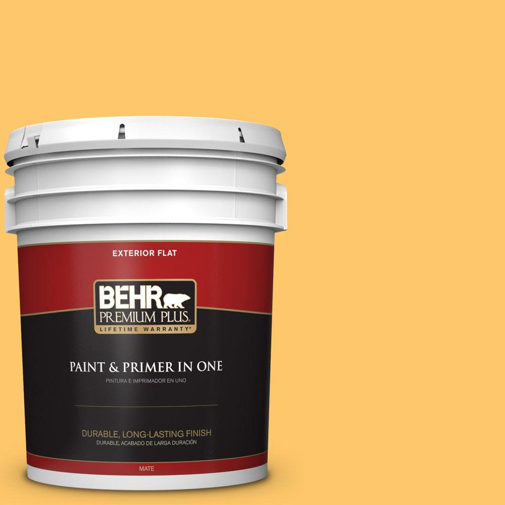 5 gal. #HDC-SP16-05 Daffodil Flat Exterior Paint