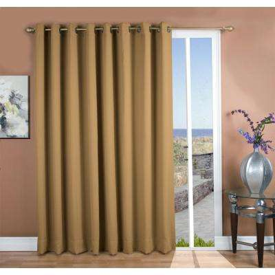 Ultimate Blackout 112 in. W x 84 in. L Polyester Blackout Patio Panel in Sand