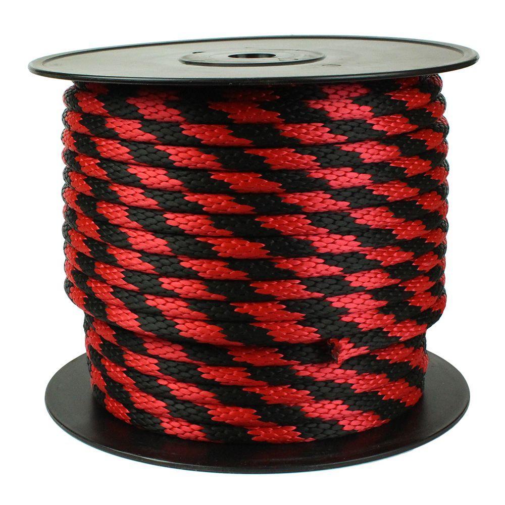 5/8 in. x 200 ft. Diamond Braid Rope, Red/Black