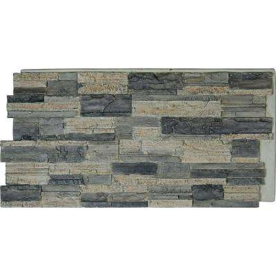 48 in. 24 in. Cascade Stacked Stone, StoneWall Faux Stone Siding Panel