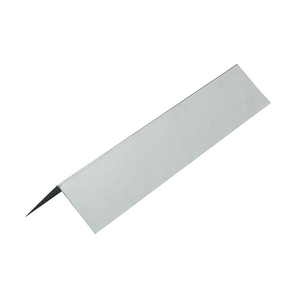 Construction Metals 3 in. x 3 in. x 10 ft. Galvanized Steel L Flashing