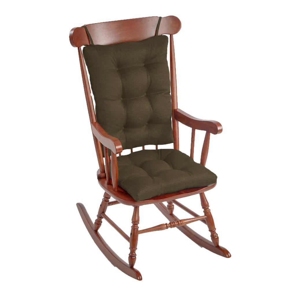 Gripper Omega Evergreen Jumbo Rocking Chair Cushion Set