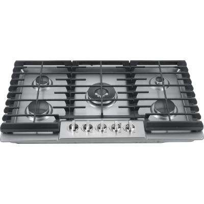 36 in. Gas Cooktop in Stainless Steel with 5 Burner
