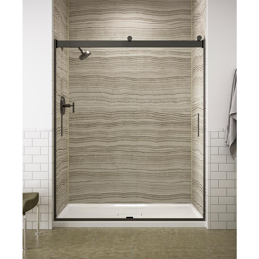 Kohler Levity 59 625 In W X 74 In H Frameless Sliding Shower