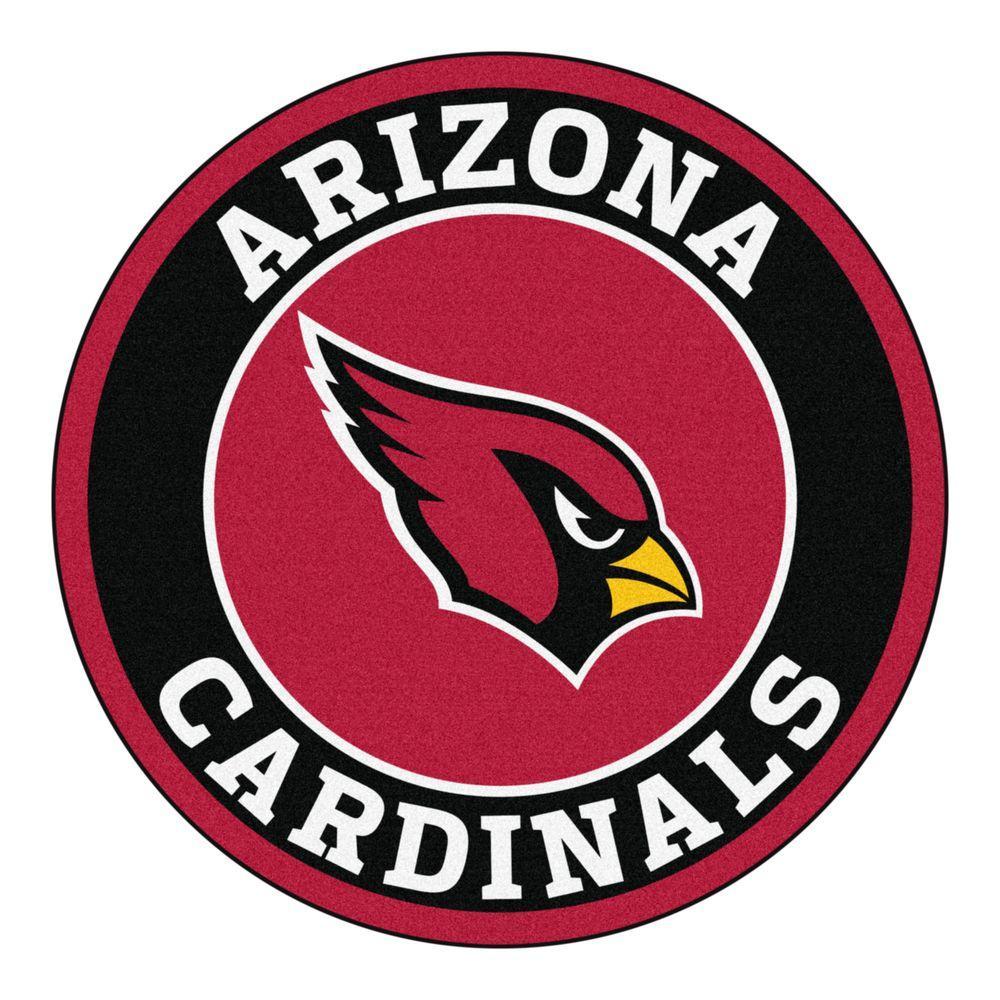 NFL Arizona Cardinals Black 2 ft. Round Area Rug