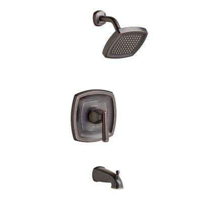 Edgemere 2.5 GPM 1-Handle Tub and Shower Faucet Trim Kit in Legacy Bronze (Valve Not Included)