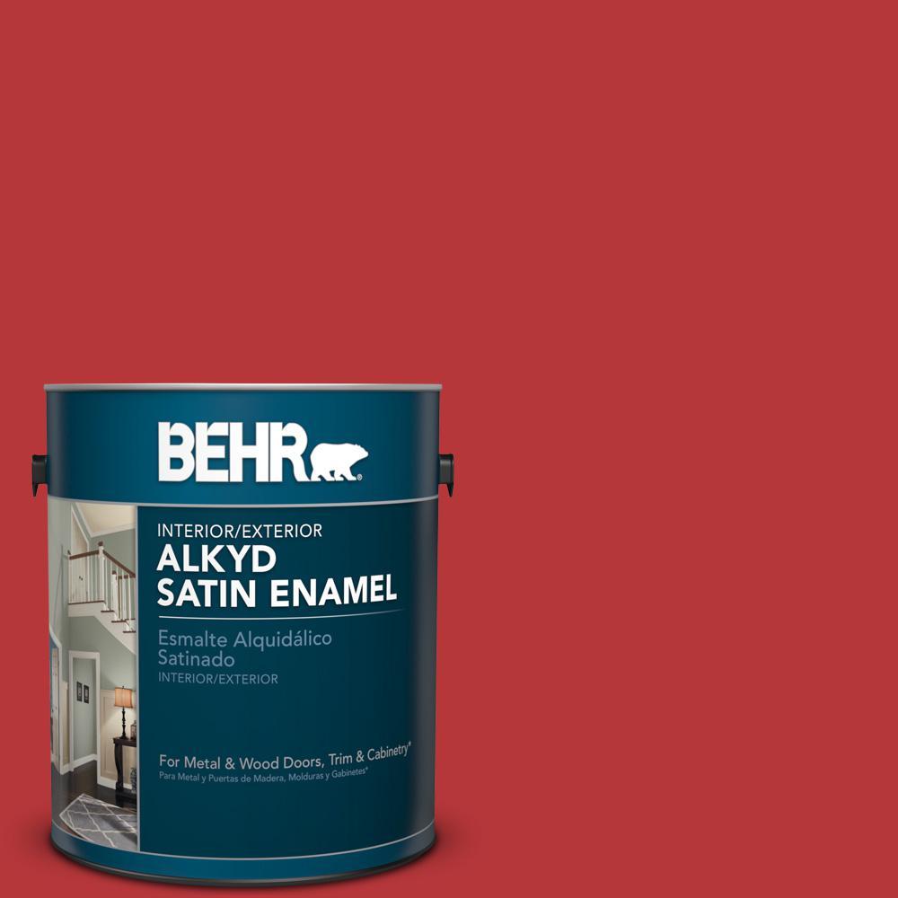 1 gal. #P160-7 Stiletto Love Satin Enamel Alkyd Interior/Exterior Paint