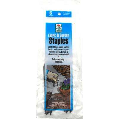 3.5 in, Weed Barrier Landscape Fabric Garden Staples (6-Pack)
