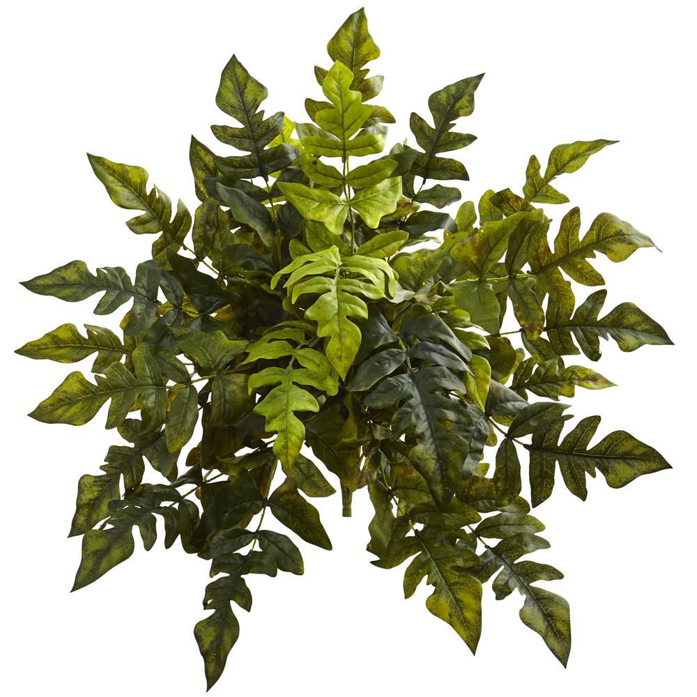 Indoor 24 in. Holly Fern Artificial Plant (2-Set)