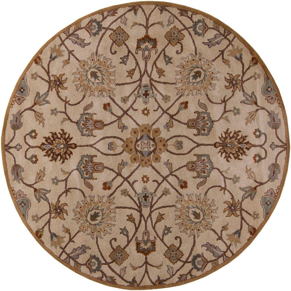 artistic weavers albi taupe 4 ft x 4 ft round indoor area rug s00151006679 the home depot. Black Bedroom Furniture Sets. Home Design Ideas