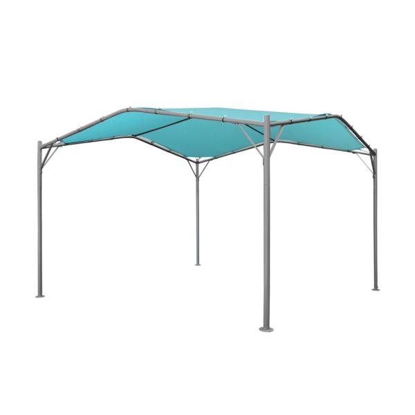 Poppy 11.5 ft. x 11.5 ft. Teal Canopy Gazebo