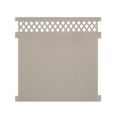 Ashton 7 ft. H x 8 ft. W Khaki Vinyl Privacy Fence Panel Kit